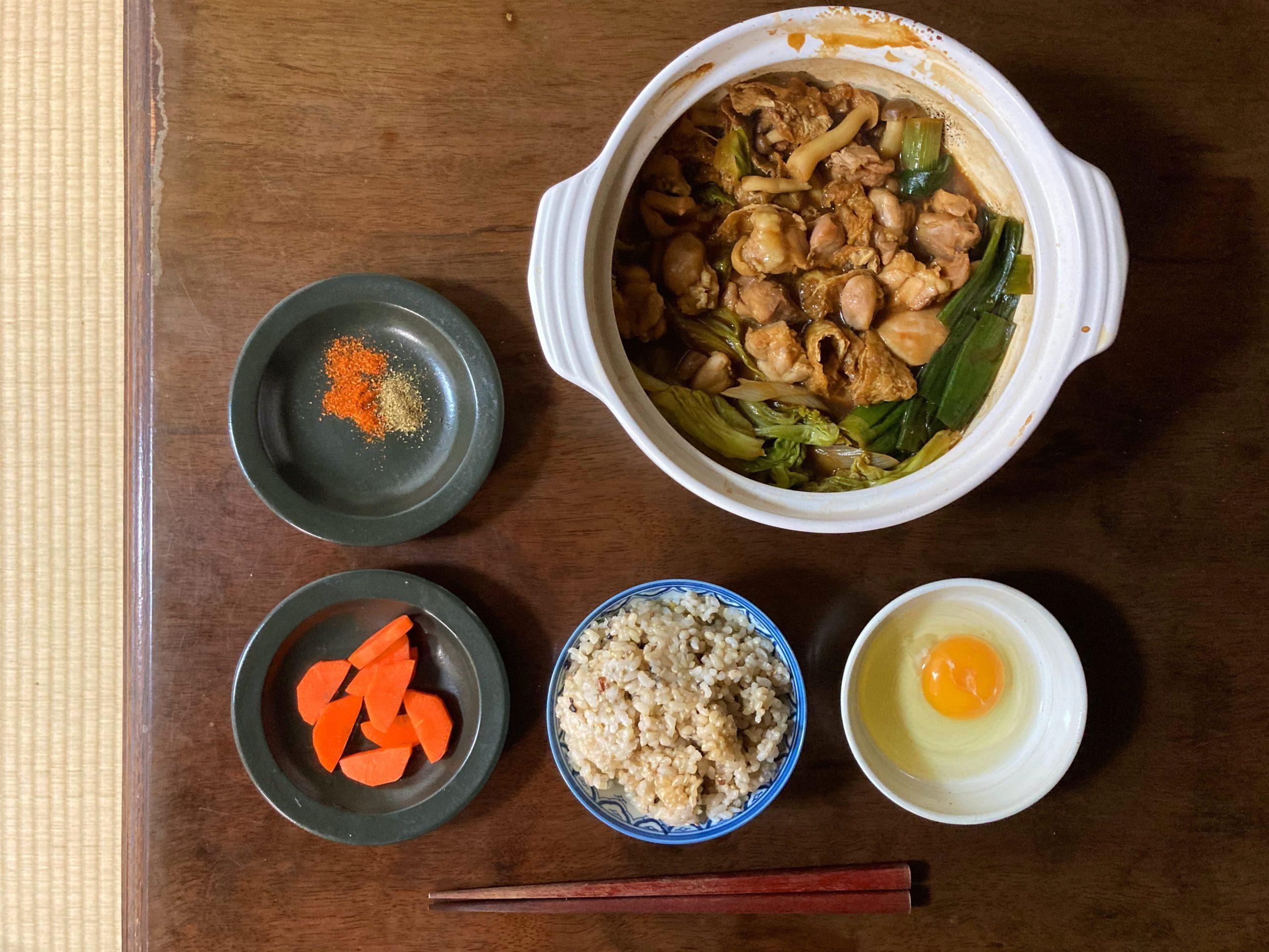 八丁味噌の鶏すきやき鍋